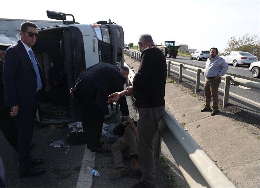 çişleri Bakan Süleyman Soylu'nun konvoyu önünde trafik kazası meydana geldi.