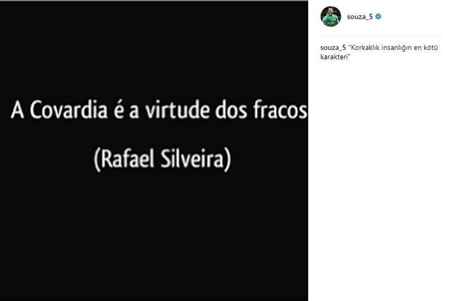 Josef de Souza'nın söz konusu paylaşımı.