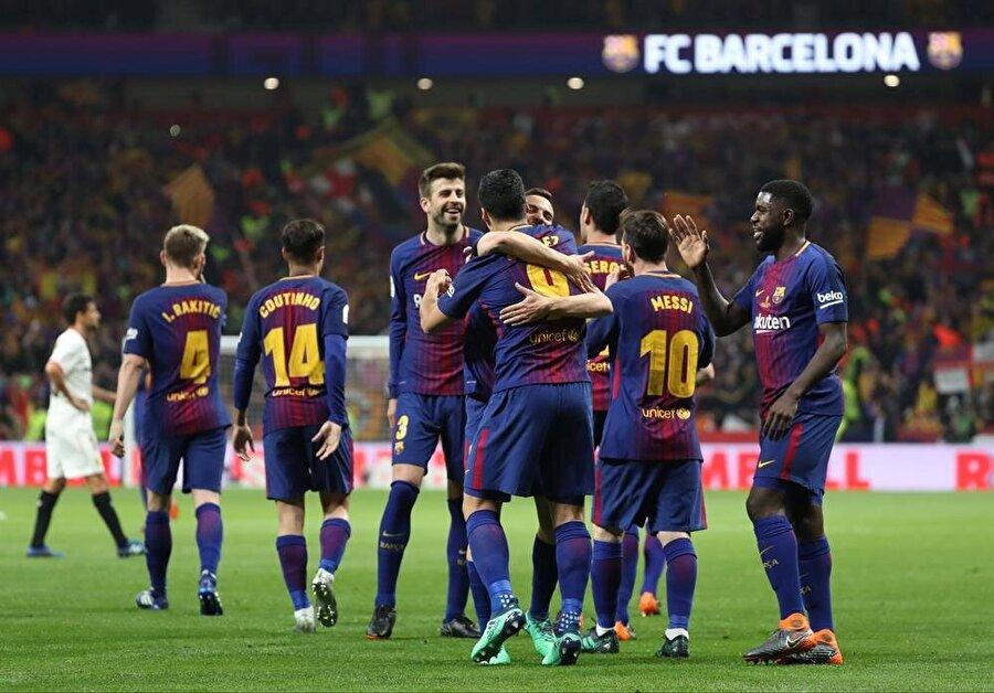 Barcelona karşılaşmaya hızlı başlayan taraf oldu.nFotoğraf: Reuters