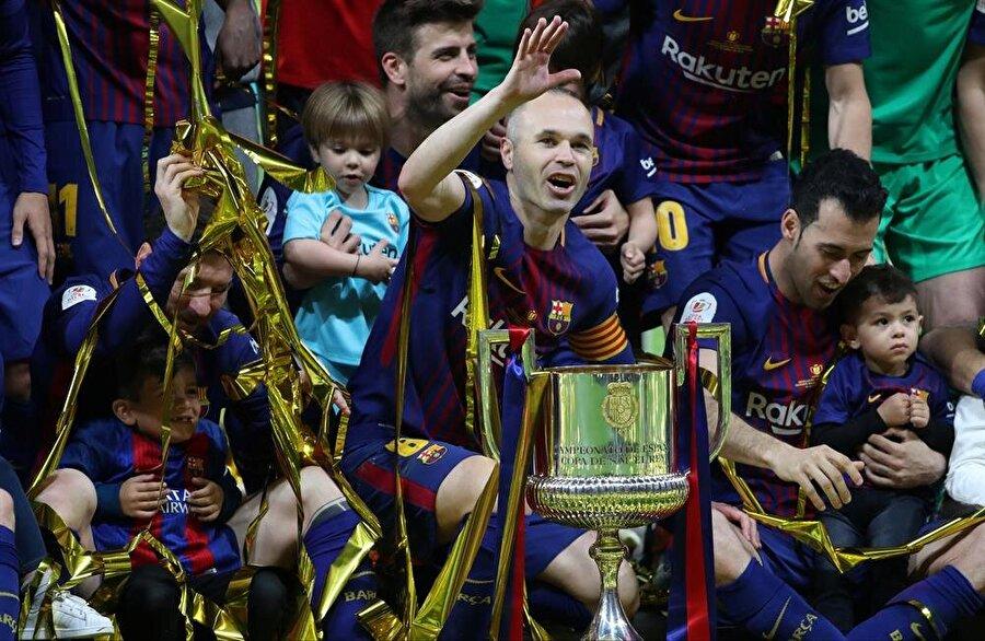 Şampiyonlukla birlikte futbolcular büyük coşku yaşadı.nFotoğraf: Reuters