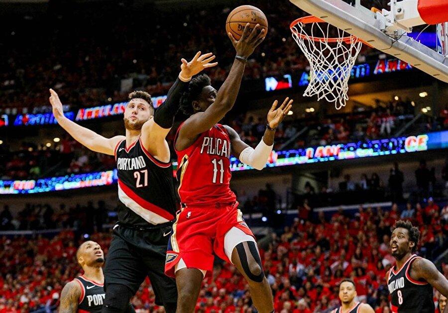 New Orleans Pelicans, Batı Konferansı Yarı Finali'ne yükseldi.nFotoğraf: Reuters