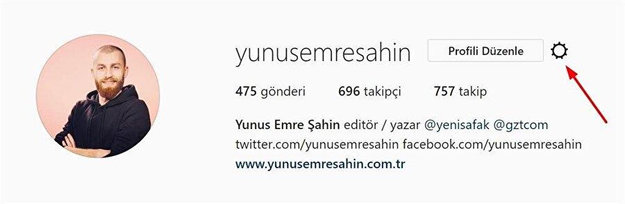 Instagram'da öncelikle profil üzerinden ayarlara erişmek gerekiyor.