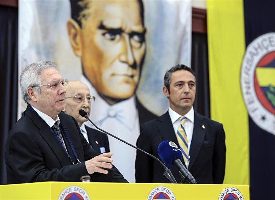 Ali Koç, Aziz Yıldırım'dan sonra konuşmanın doğru olmayacağını ifade etti. nFotoğraf: AA