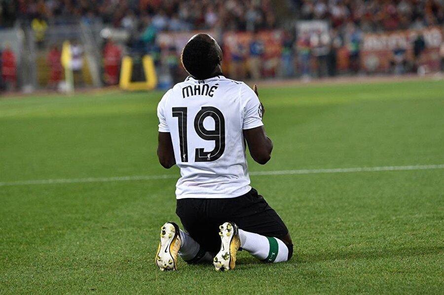 Karşılaşmanın ilk golü Mane'den geldi.nFotoğraf: AA