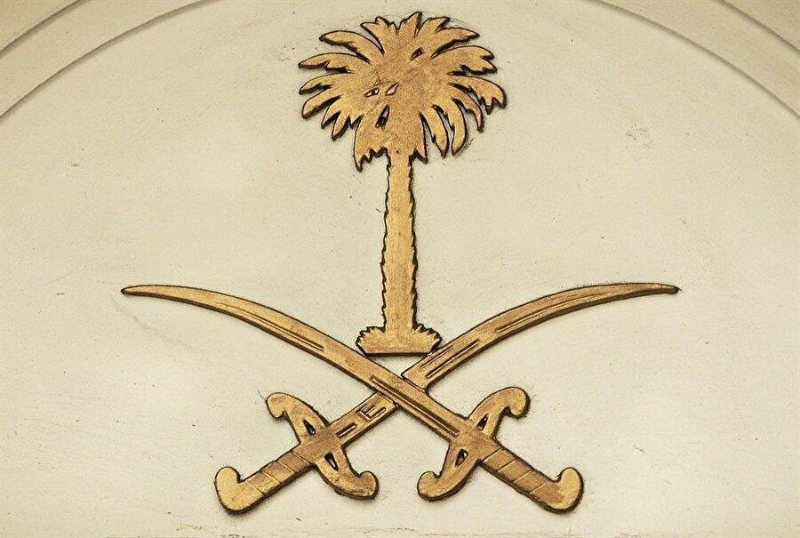 Suudi Arabistan kraliyet arması.