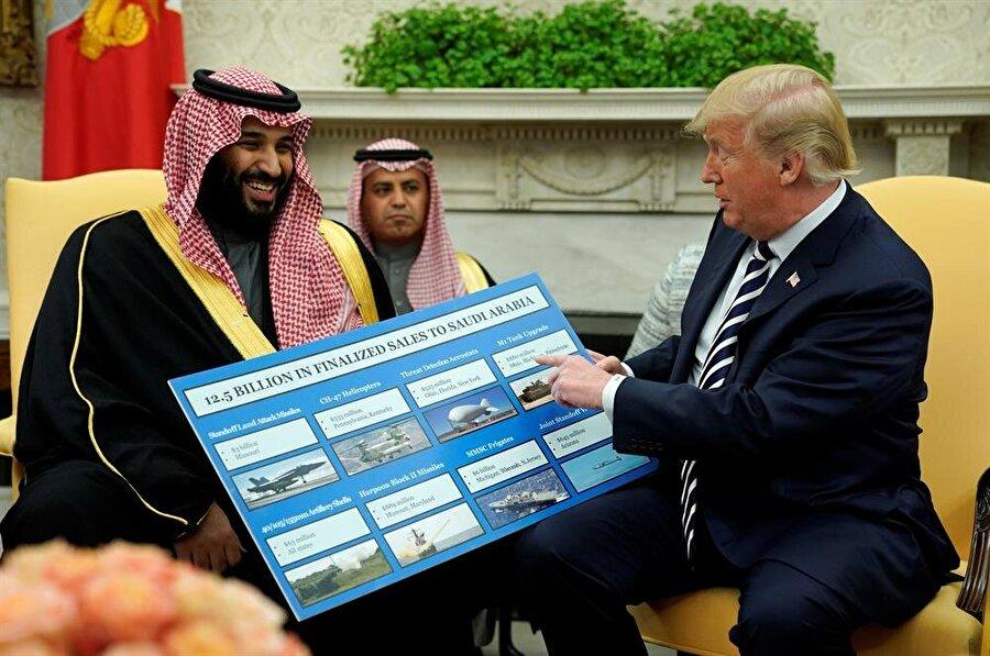 ABD Başkanı Donald Trump, MBS'yi geçtiğimiz günlerde Beyaz Saray'da ağırlamıştı. (Jonathan Ernst / Reuters)