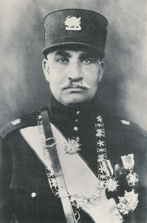 İran Şahı Rıza Pehlevi.