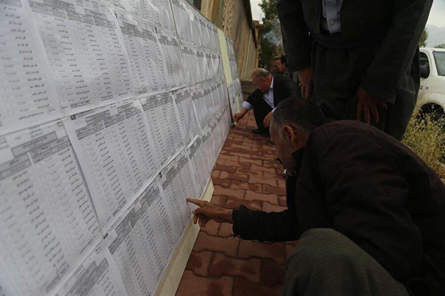 Iraklılar, binlerce aday arasından kendi destekledikleri listeyi araştırıyor. (Feriq Fereç / AA)