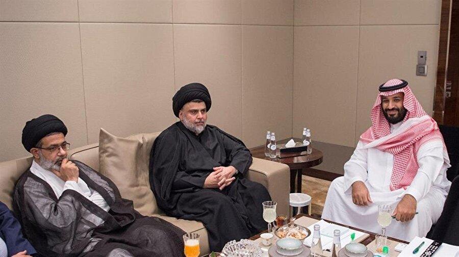 Mukteda Sadr, geçtiğimiz yaz Suudi Arabistan'ı ziyaret ederek Veliaht Prens Muhammed bin Selman'la görüşmüştü.