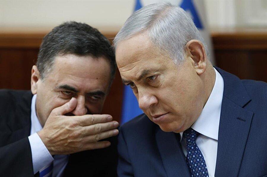 İsrailli Bakan Katz (solda), Başbakan Netanyahu'nun yakın ekibinden.