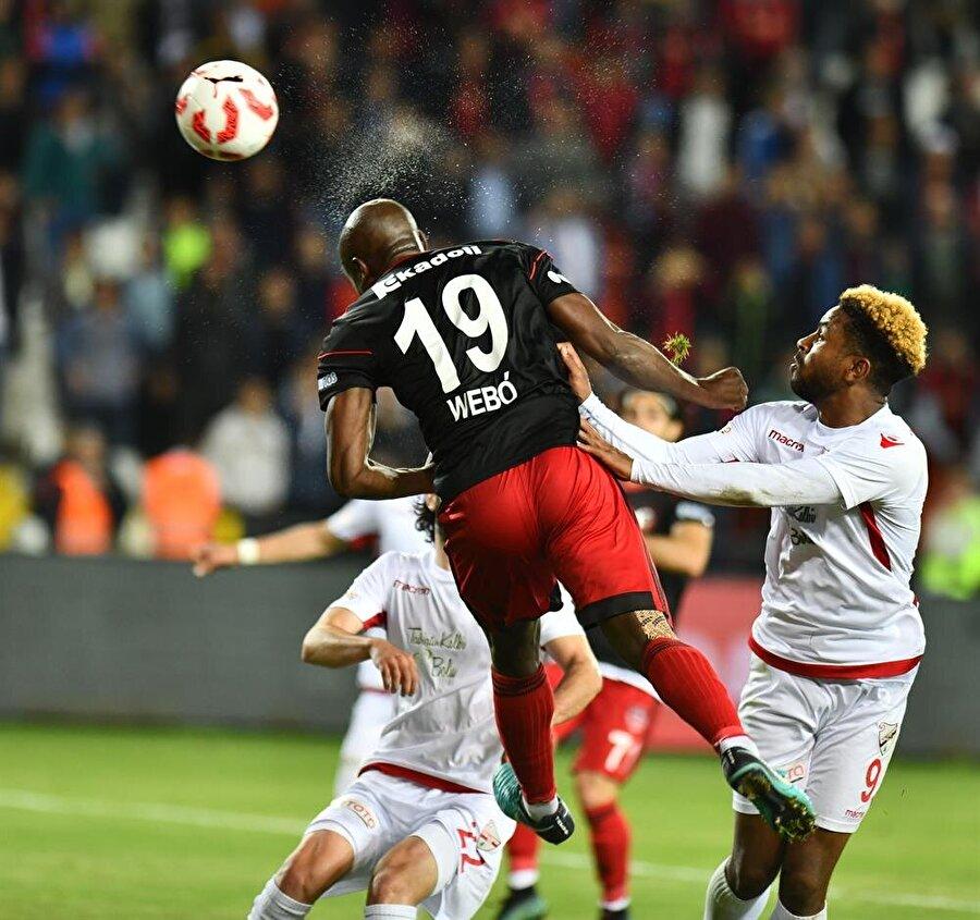 Webo bu sezon çıktığı 25 maçta 8 gol atıp 3 asist yaptı. nFotoğraf: AA