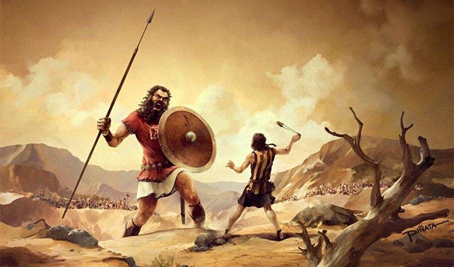 Hz. davud, Câlût'a meydan okuduğunda, elinde sapandan başka bir şey yoktu.