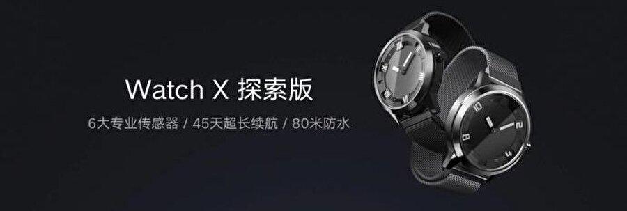 Watch X, Apple Watch haricindeki diğer birçok akıllı saat gibi yuvarlak bir kadrana sahip.