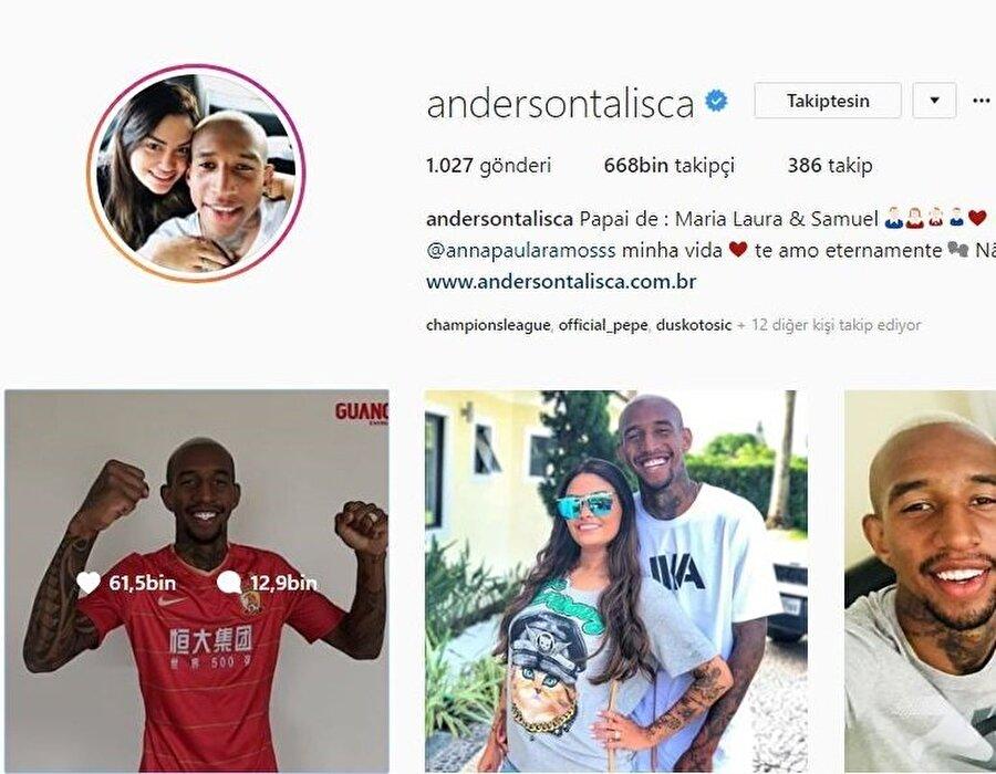 Çin'e transfer olduktan sonra Beşiktaş'ı sosyal medya hesabından takip etmeyi bırakan Talisca'nın takipçi sayısı 668K'ya düştü. Takipten çıkmadan önce 725K idi.