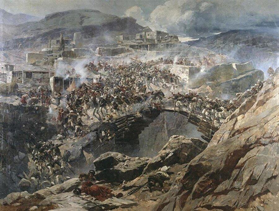 Rus ressam Franz Alekseyevich Roubaud'ın gözünden Kafkas halkları ve Çarlık askerlerinin çetin mücadelesi.
