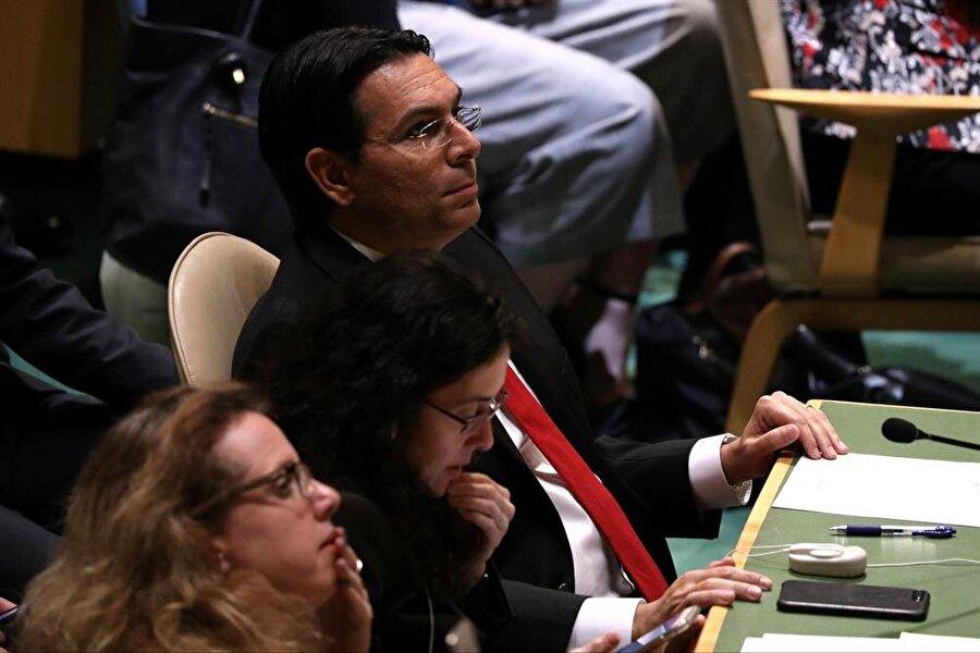 İsrail'in BM Daimi Temsilcisi Danny Danon, tasarının kabul edilmesine böyle tepki gösterdi. (Mike Segar / Reuters)