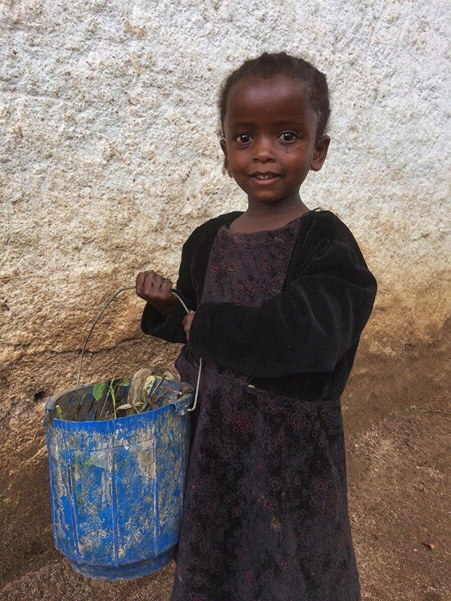 Afrika'nın güleç yüzlü çocuklarına Harar sokaklarında da sıkça rastlıyoruz. (Fotoğraf: İsmail Yasin Avcı)