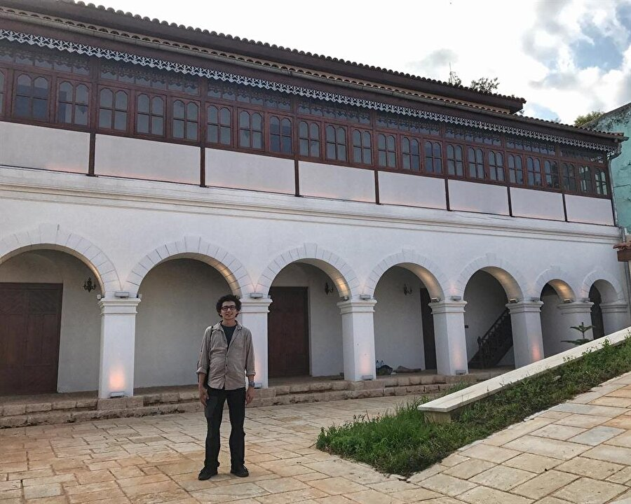 """Bir dönem Osmanlı Konsolosluğu olarak da hizmet veren """"Muhammed Ali Köşkü"""", TİKA tarafından restore ediliyor. (Fotoğraf: İsmail Yasin Avcı)"""