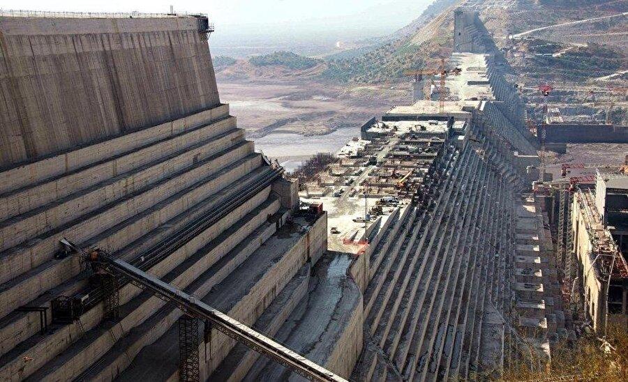 Nahda barajının yapımının yüzde 60'ı tamamlandı.