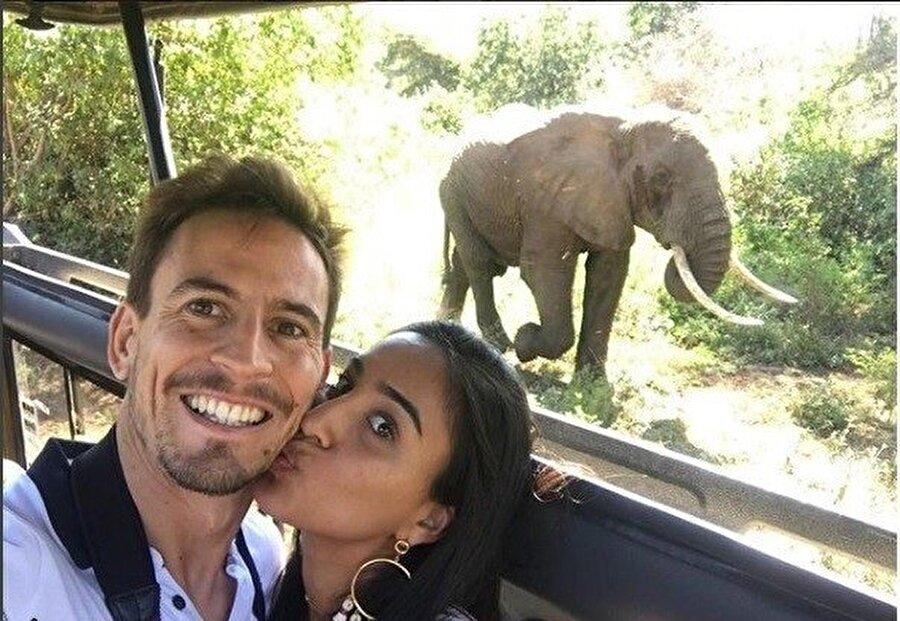 Joao Pereira ve eşi Tanzanya'da.