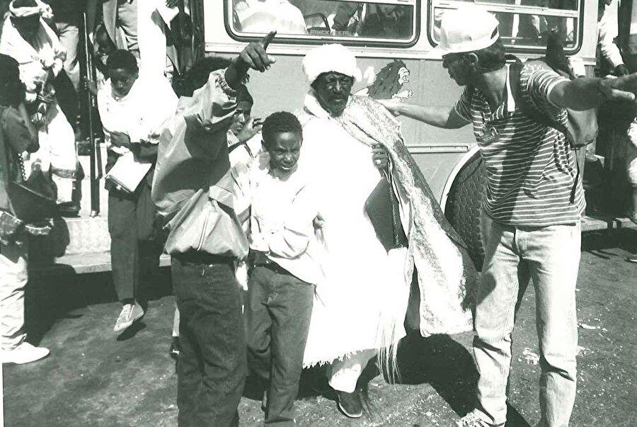 Musa Operasyonu'yla dağılan Falaşa ailelerinin bir kısmı, Yeşu Operasyonu'yla bir araya getirildi.