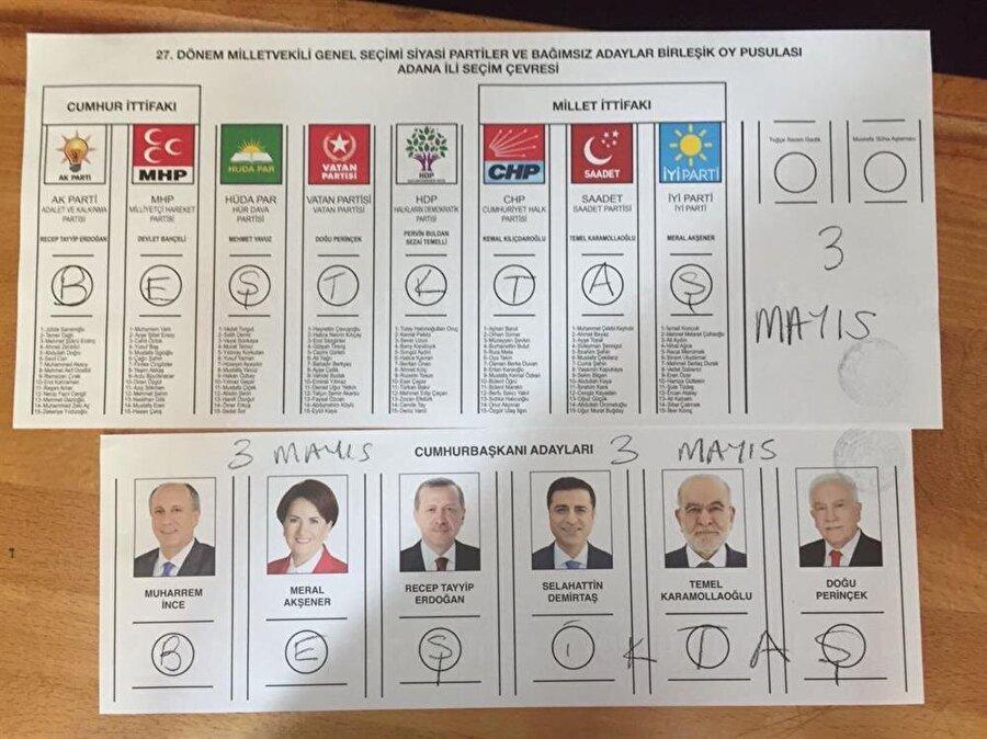 Beşiktaşlı taraftarın oyu geçersiz sayılacak.