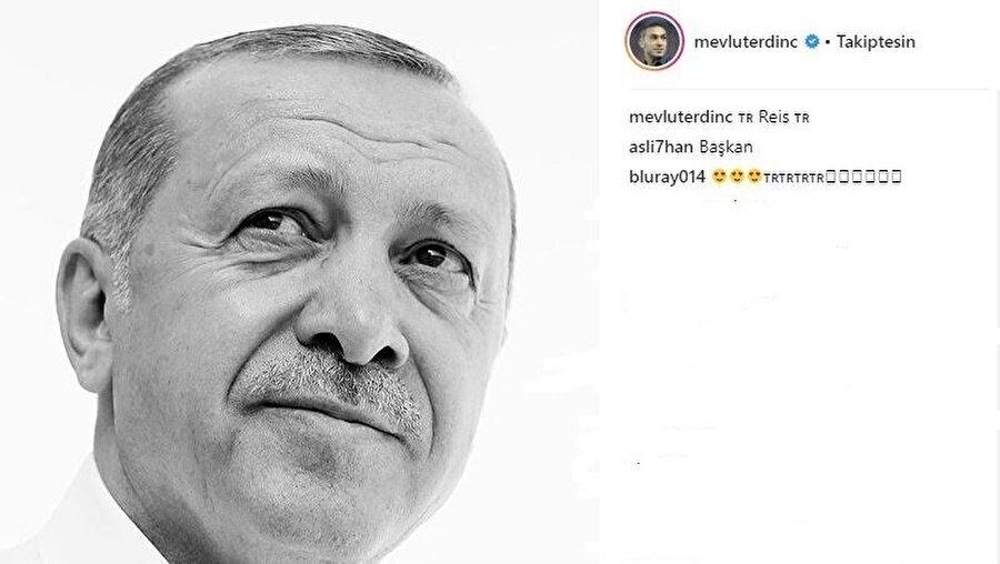 Mevlüt Erdinç'in söz konusu paylaşımı.