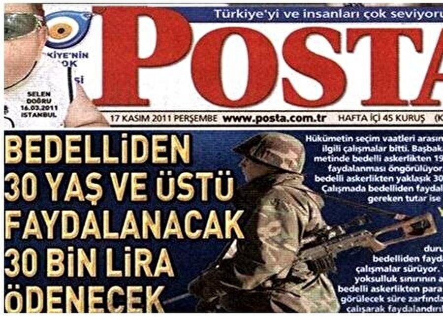 Bedelli askerlik yasasını gazeteler böyle duyurdu