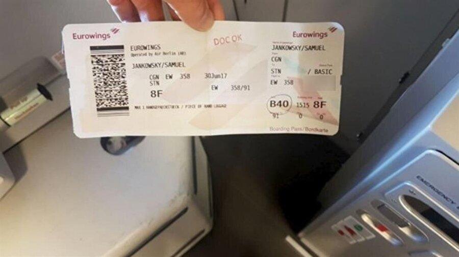 İngiliz bankacının satın aldığı uçak bileti