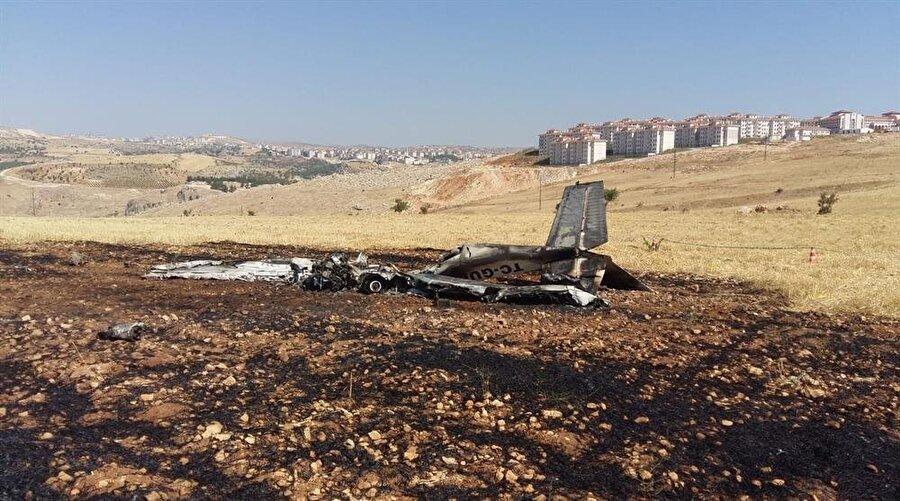 Gaziantep Üniversitesine ait eğitim uçağının Adıyaman'ın Besni ilçesinde düştü.