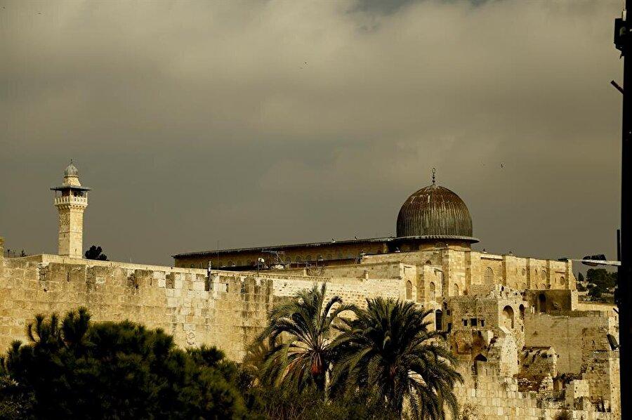 Kıble Mescidi, Emevi Halifesi Velid bin Abdulmelik tarafından inşa ettirilmiştir. (Fotoğraf: İsmail Çağılcı)