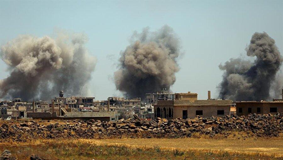 İran destekli Suriye ordusu ve Rusya'nın devam eden bombardımanları 200'den fazla sivilin ölümüne neden oldu.