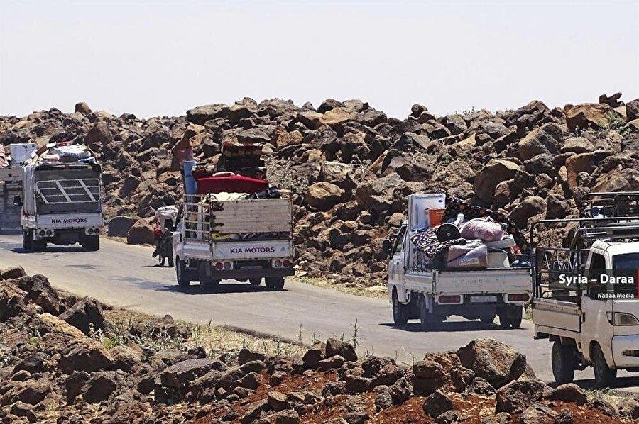 Sivillerin kaçabileceği Ürdün ve İsrail istikametlerinde sınırlar kapalı.