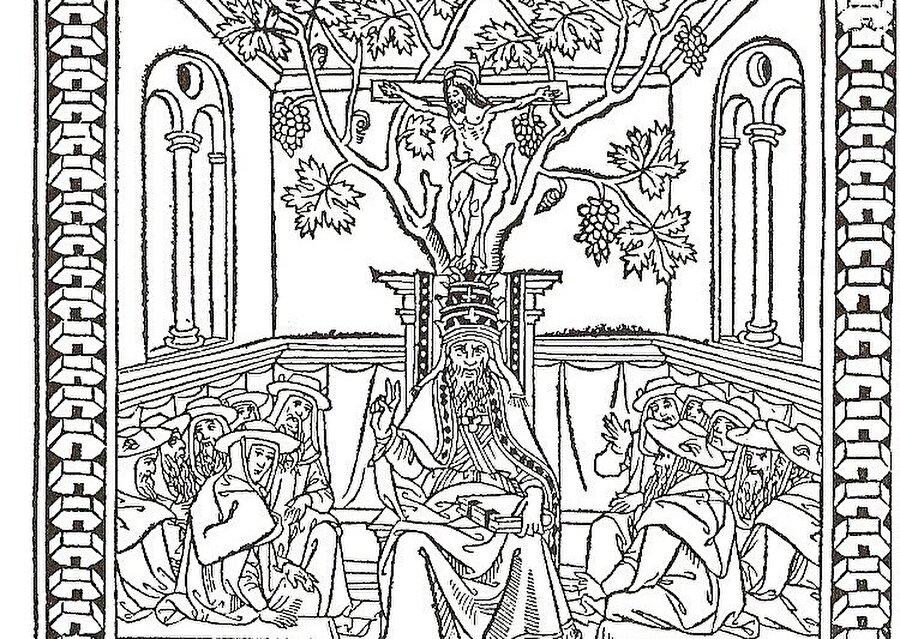 Rahip Kral John'un farklı zamanlarda Avrupalı ressamlar tarafında birçok tasviri yapıldı.