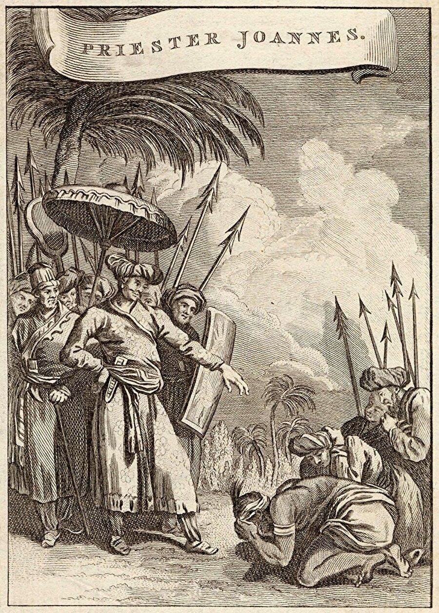 Habeşistanlı kralı tasvir etmek için birçok resim çizildi.