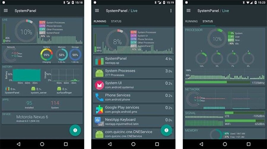 SystemPanel 2, ücretsiz kullanıma ek olarak bir de 1.99 dolarlık ücretli seçenek barındırıyor.