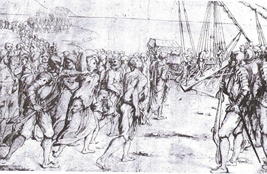 O dönemin şahitlerinden İtalyan Ressam Vincenzo Carducci (1576-1638) tarafından çizilen ve bugün Madrid'deki Prado Müzesi'nde yer alan bu resim, uygulanan zulmün boyutunu da tüm açıklığıyla ortaya koyuyor.