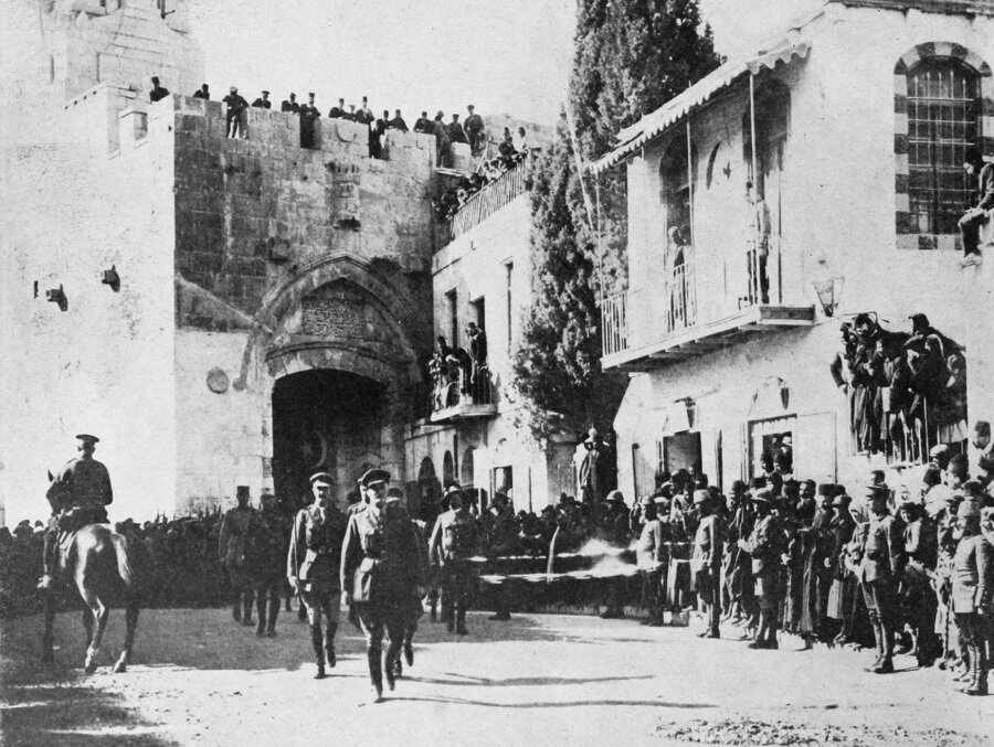 İngiliz komutan Edmund Allenby, 11 Aralık 1917'de El Halil Kapısı'ndan Kudüs'e girmişti.