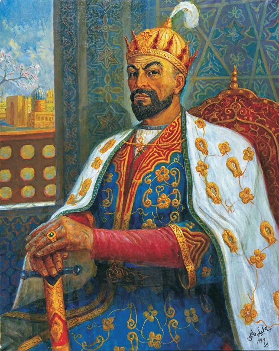 Kısa sürede Orta Asya'dan Ortadoğu'ya kadar olan bölgeyi fethetmiş İmparator Timur.