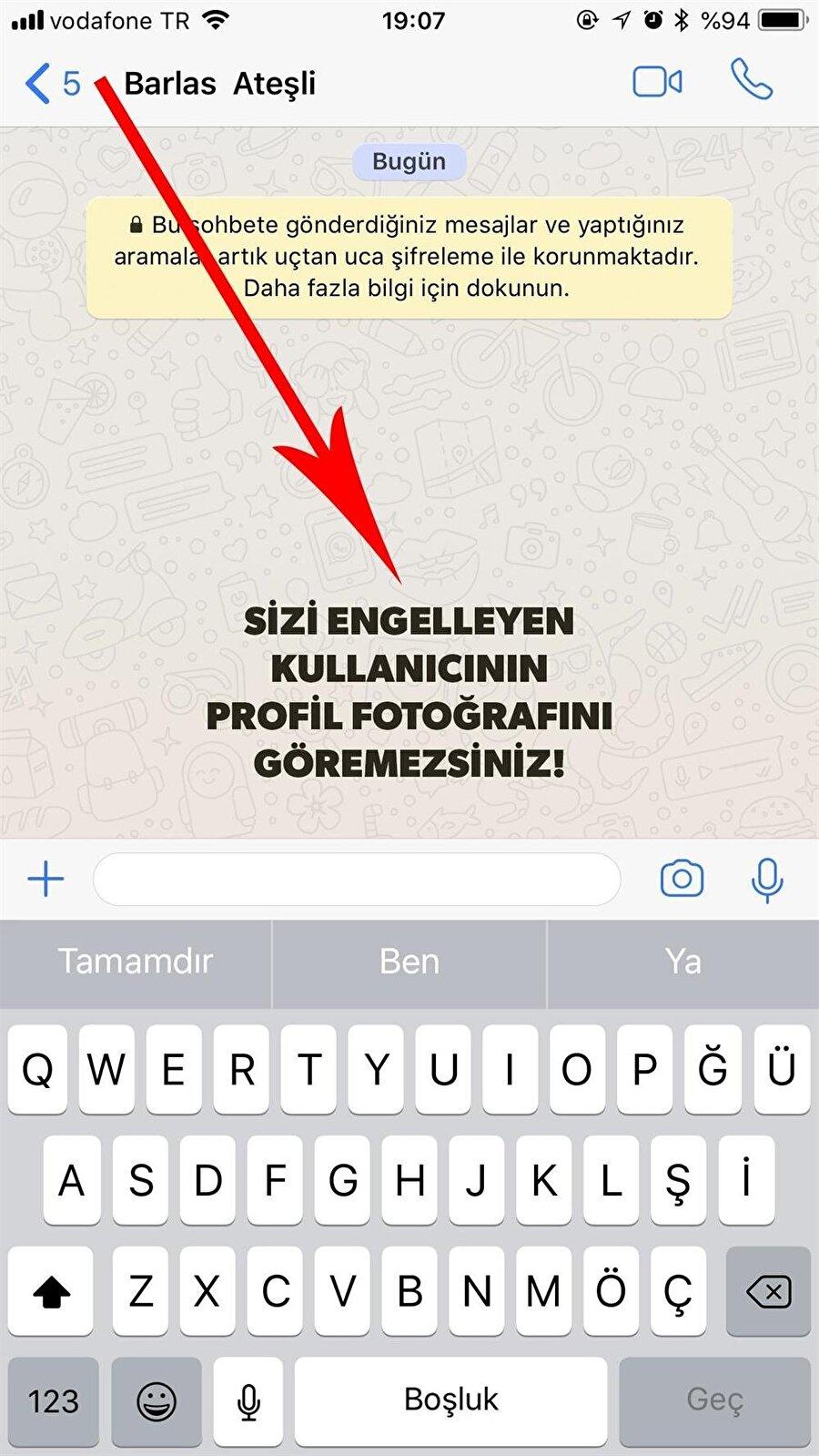 Bir WhatsApp kullanıcısı tarafından engellendiğinizde onun profil fotoğrafını görme ihtimaliniz bulunmuyor.