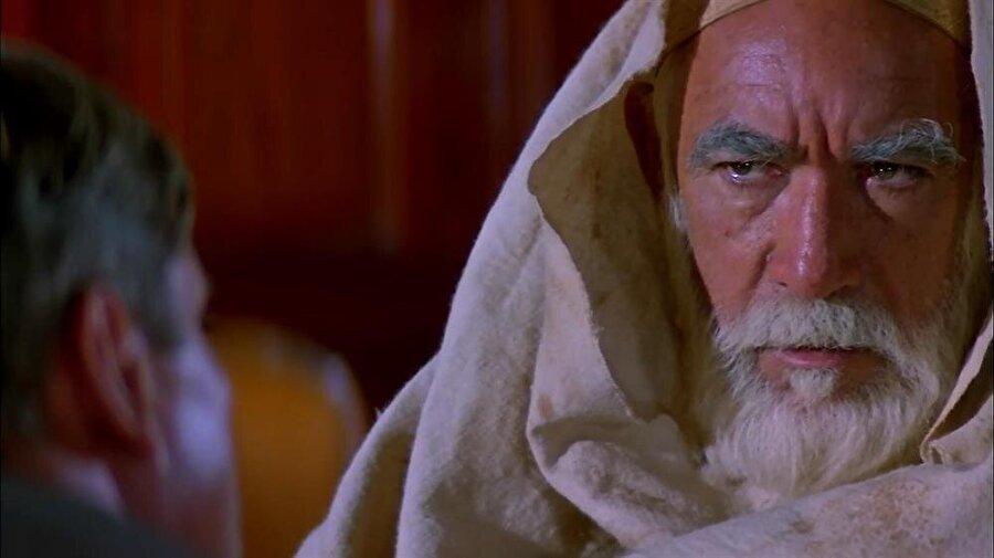 """Ömer Muhtar'ın mücadelesini anlatan """"Çöl Aslanı"""" filminde, büyük kahramanı Anthony Quinn canlandırmıştı."""