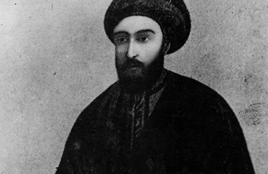 """Bâb"" lakaplı Mirza Ali Muhammed'in temsili bir resmi."