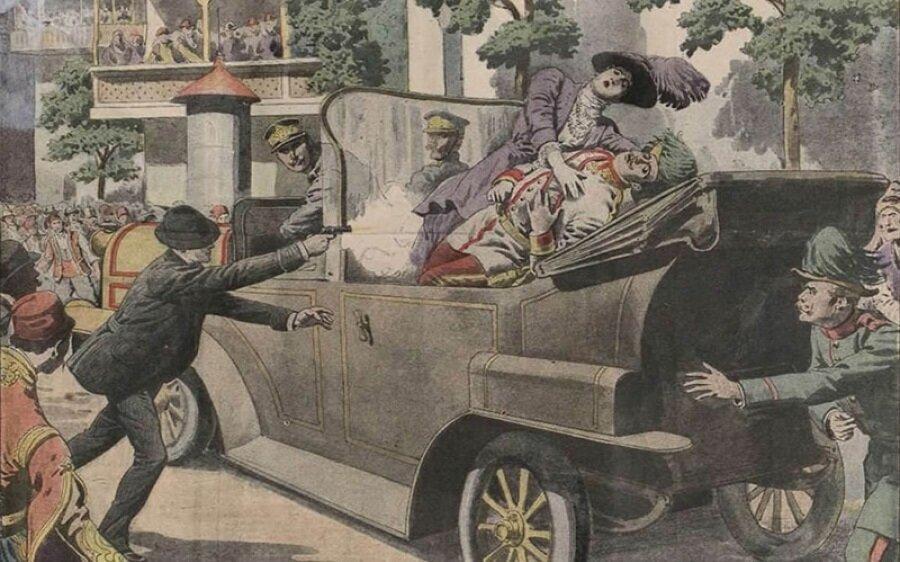 Avusturya Macaristan İmparatorluğu Veliahtı Franz Ferdinand'ın Saraybosna'da öldürülmesi, Birinci Dünya Savaşı'nın da işaret fişeğiydi.