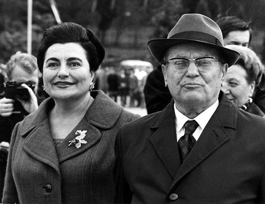 Tito, dördüncü ve son eşi Yovanka ile birlikte.