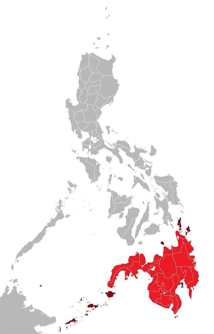 Filipinler'de Müslümanların çoğunlukta olduğu Mindanao bölgesi.