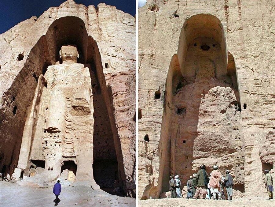 Taliban'ı dünya basınının manşetlerine taşıyan eylemlerden biri, Bamiyan bölgesindeki 55 metrelik Buda heykelinin yıkılmasıydı.