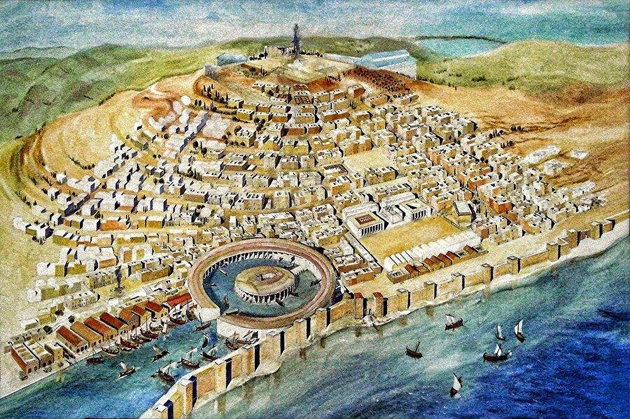 Günümüzde Tunus'un kuzeyinde yer alan Kartaca kenti, Fenikeliler için hem ticari hem de askeri açıdan çok önemliydi.