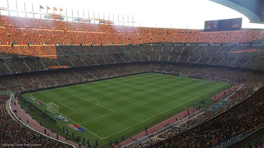 PES 2019 stadyum detayları ve isim hakları konusunda da beklentileri yükseltti.