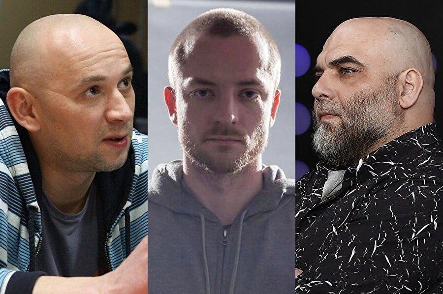 Aleksandr Rastorguev (Solda), Kirill Radçenko (Ortada) ve Orhan Cemal, belgesel çekimi için Orta Afrika'ya gitmişlerdi.