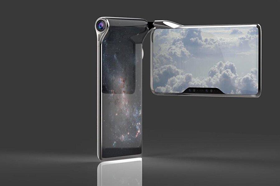 Cihaz, çift ekrana güç verebilmek için iki farklı batarya kullanıyor.
